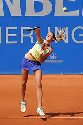 22.05.2014, Tennisanlage 1.FC Nuernberg, GER, WTA Tour, Nuernberger Versicherungscup, Viertelvinale, im Bild Service von Karolina Pliskova (CZE) // during the quarterfinals of Nuernberg WTA tournament at the 1.FC Nuernberg tennis facility in Nuernberg, Germany on 2014/05/22. EXPA Pictures © 2014, PhotoCredit: EXPA/ Eibner-Pressefoto/ Schreyer<br /> <br /> *****ATTENTION - OUT of GER*****