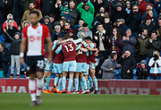 Goal celebration  by Burnley's Ashley Barnes  during the Premier League match between Burnley and Southampton at Turf Moor, Burnley, England on 24 February 2018. Picture by Paul Thompson.