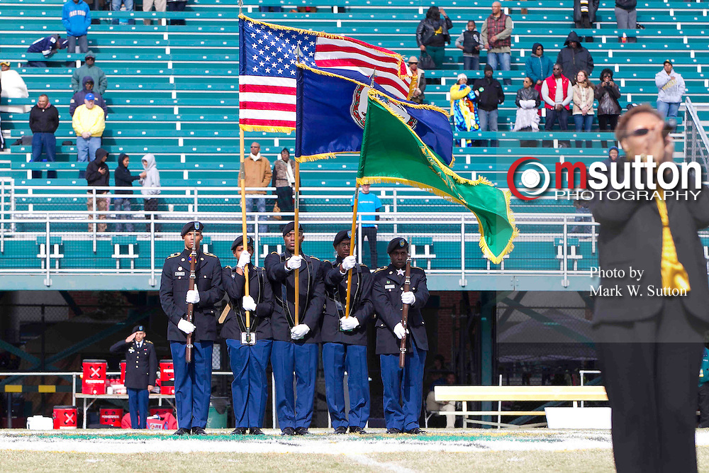 during the Norfolk State - Savannah State football game at Dick Price Stadium in Norfolk, Virginia.   NSU won 33-21   November 03, 2012  (Photo by Mark W. Sutton)