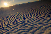 Sand ripples in desert USA