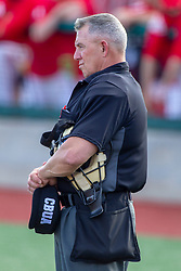 NORMAL, IL - April 08: Umpire Phil Pupillo during a college baseball game between the ISU Redbirds  and the Sacramento State Hornets on April 08 2019 at Duffy Bass Field in Normal, IL. (Photo by Alan Look)