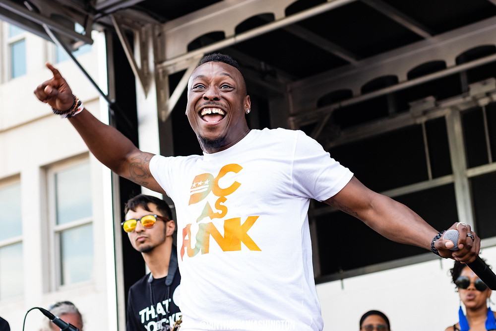 JusPaul performs with The JoGo Project during Funk Parade 2018 in Washington, DC on Saturday, May 12. 2018.