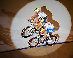 06-01-2012 WIELRENNEN: RABOBANK ZESDAAGSE: ROTTERDAM<br /> (L-R) Leif Lampater GER, Leon van Bon tijdens de voorstelronde<br /> (c)2012-FotoHoogendoorn.nl / Peter Schalk