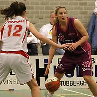 TUBBERGEN..Basketbal vrouwen, eredivisie: Twente-Amazone..Foto:nr;11 Torunn Ytrehus en 12; Heather Zurich..Editie: Sport....ffu press agency©2010 Wilco van Driessen..TT20101701..