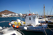 fishing boat at Paros, a Greek island in the central Aegean Sea. One of the Cyclades island group, Greece