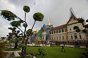 Wat Phra Keo and Grand Palace. Renovation of Chakri Group.