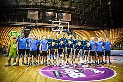 Players of Slovenia during friendly basketball match between Slovenia and Croatia , on September 8, 2018 in Arena Zlatorog, Celje, Slovenia. Photo by Ziga Zupan / Sportida