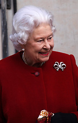 Queen Elizabeth leaves the King Edward VII hospital in Central London after a short stay for  a slight stomach ailment Monday March 4, 2013. Photo by Max Nash / i-Images.