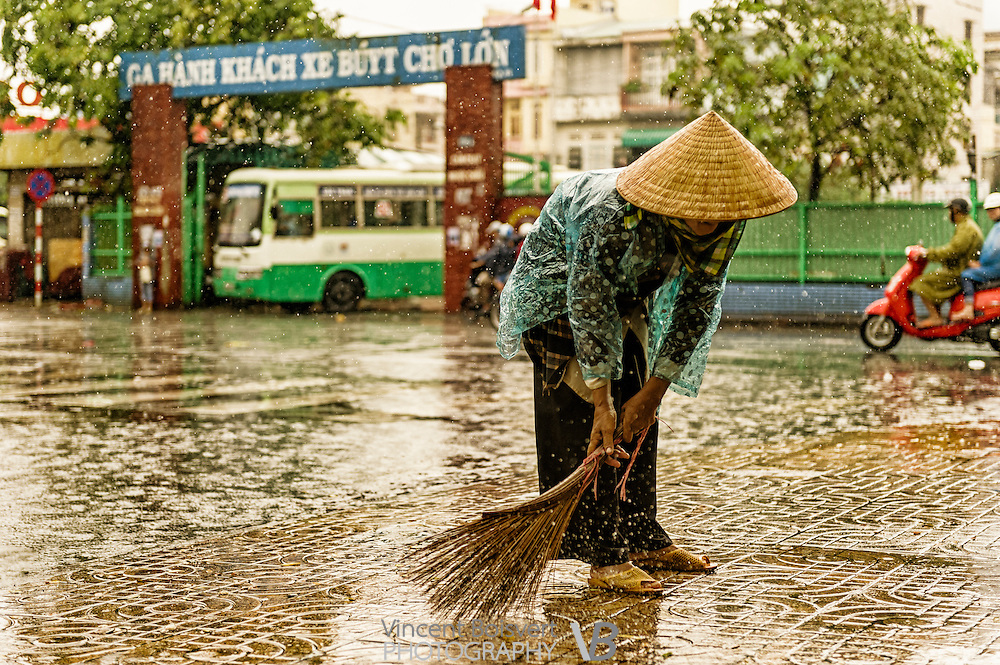 A rainy day in Ho Chi Minh