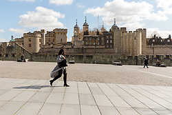 March 16, 2020, London, UK: A very quiet and empty scene outside the Tower of London today which is normally busy with tourists at this time (11:50am). New cases and fatalities resulting from the COVID-19 strain of the Coronavirus continue to be reported daily in the UK with major sporting fixtures cancelled and people advised to stay at home if they have a cough and high temperature. (Credit Image: © Vickie Flores/London News Pictures via ZUMA Wire)