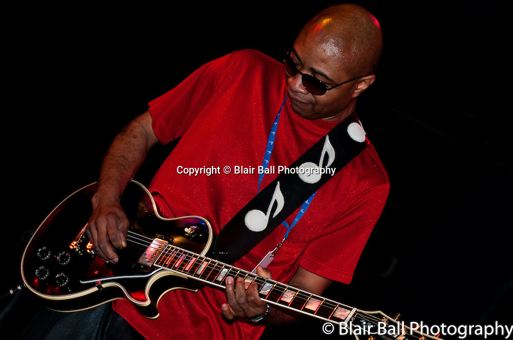 Memphis International Blues Challenge held on Beale Street in Memphis, Tennessee.