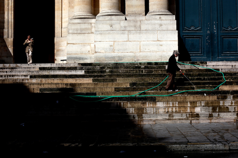 Church steps, Paris
