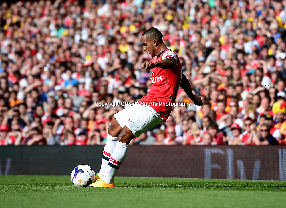 4th August 2013 - Emirates Cup - Arsenal v Galatasary - Theo Walcott of Arsenal scores a goal to make it 1-0 - Photo: Marc Atkins / Offside.