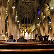 USA/New Yok/20120301 - New York, interieur St. Patrick church op Fifth Avenue