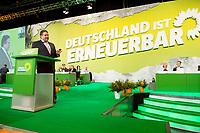 27 APR 2013, BERLIN/GERMANY:<br /> Sigmar Gabriel, SPD Parteivorsitzender, haelt eine Rede, Bundesdelegiertenkonferenz Buendnis 90 / Die Gruenen, Velodrom<br /> IMAGE: 20130427-01-100<br /> KEYWORDS: Parteitag, Bundesparteitag, BDK, party congress, Bündnis 90 / Die Grünen, B90/Gruene, B90/Grüne