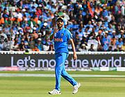 Bhuvneshwar Kumar of India during the ICC Cricket World Cup 2019 match between Bangladesh and India at Edgbaston, Birmingham, United Kingdom on 2 July 2019.