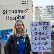 12 Jan 2016 - Striking junior doctors picket at St.Thomas', then march on Parliament.