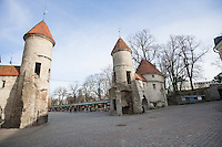 View of Viru Gates; Tallinn; Estonia; Europe