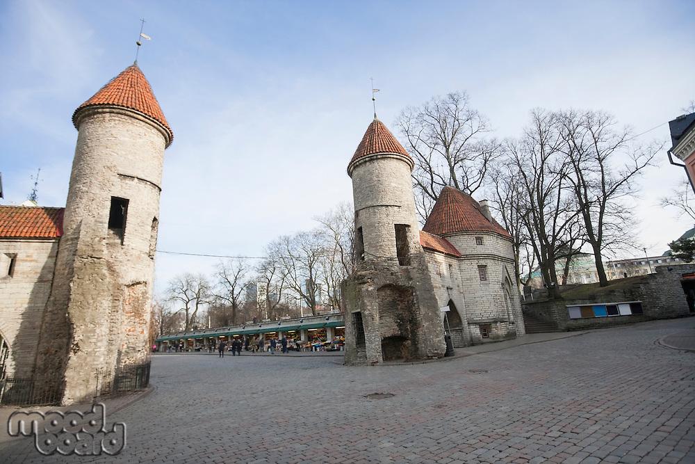 View of Viru Gates; Tallinn; Estonia; Europe