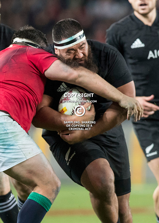Charlie Faumuina during game 7 of the British and Irish Lions 2017 Tour of New Zealand, the first Test match between  The All Blacks and British and Irish Lions, Eden Park, Auckland, Saturday 24th June 2017<br /> (Photo by Kevin Booth Steve Haag Sports)<br /> <br /> Images for social media must have consent from Steve Haag