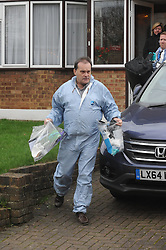 © Licensed to London News Pictures. 26/12/2015<br /> Police are still at the crime scene this afternoon.<br /> Boxing Day Murder Mottingham,London.<br /> A 64 year old man has been stabbed to death at a house on Luxfield Road,Mottingham SE9, South East London. A 52 years old man was arrested close to the scene in the early hours of this morning. (26.12.15)<br /> (Byline:Grant Falvey/LNP)