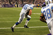 MINNEAPOLIS - NOVEMBER 21:  Tight end Stephen Alexander #86 of the Detroit Lions catches a one yard touchdown pass in the first quarter against the Minnesota Vikings at the Hubert H. Humphrey Metrodome on November 21, 2004 in Minneapolis, Minnesota. The Vikings defeated the Lions 22-19. ©Paul Anthony Spinelli  *** Local Caption *** Stephen Alexander