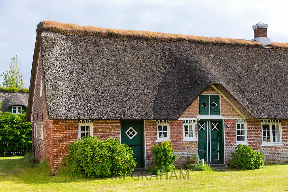 Traditional thatched cottage houses on Fano Island - Fanoe - South Jutland, Denmark