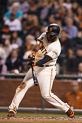 SAN FRANCISCO, CA - APRIL 18:  Denard Span #2 of the San Francisco Giants hits an RBI single against the Arizona Diamondbacks during the second inning at AT&T Park on April 18, 2016 in San Francisco, California.  (Photo by Jason O. Watson/Getty Images) *** Local Caption *** Denard Span