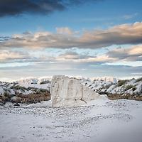 White sands in barren location in America