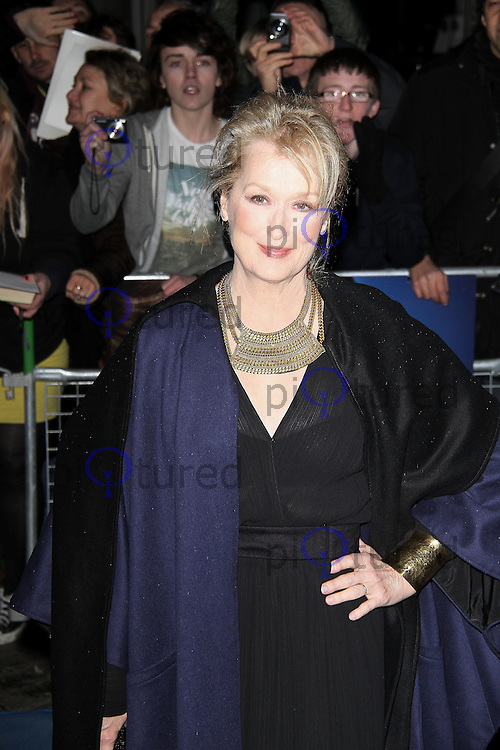 LONDON - JANUARY 04:  Meryl Streep attends the UK film Premiere of 'The Iron Lady' at the BFI Southbank, London, UK on January 04, 2012. (Photo by Richard Goldschmidt)