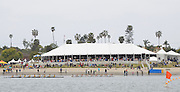 San Diego, California. USA,   2013 San Diego Crew Classic, Mission Bay.  Crews pass the Hospitality  Tent. 11:58:12   Sunday  07/04/2013  [Mandatory Credit. Karon Phillips/Intersport Images]..