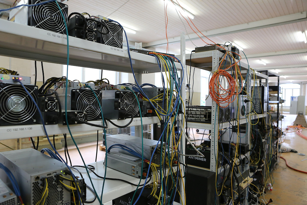 Inside the Alpereum mine, located in what used to be a factory building, but now a municipality-run foundation up in the Glarus Alps. The mining facility is operated by CryptoCash AG, Switzerland's oldest professional mining entity.
