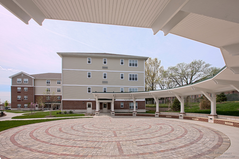 Architectural photography of senior living building Our Lady of Fatima