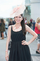 29/07/2014 Anna Ramon from Mexico living in Galway  at the Tuesday evening meeting of the Galway Summer racing Festival. Photo: Andrew Downes