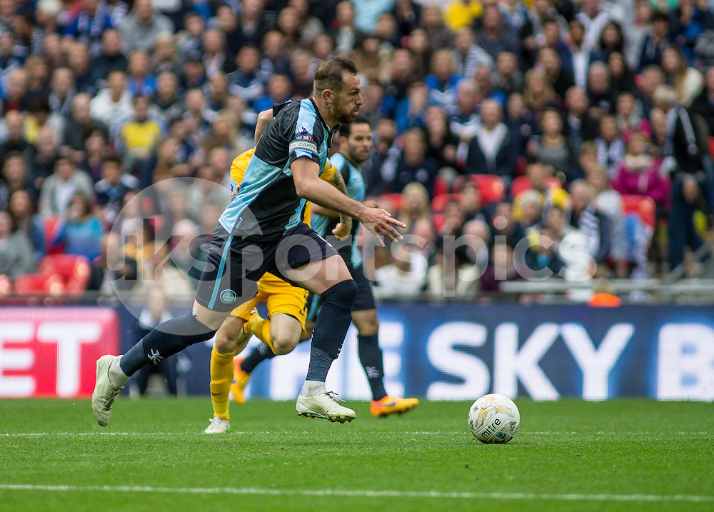 Paul Hayes of Wycombe Wanderers during the Sky Bet League 2 Play-Off Final match between Southend United and Wycombe Wanderers at Wembley Stadium, London, England on 23 May 2015. Photo by Liam McAvoy.