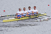 Sarasota. Florida USA. GBR M4X. Bow Jack BEAUMONT. Jonny WALTON, John COLLINS and Pete LAMBERT. Move away from the start at the 2017 FISA World Rowing Championships, Nathan Benderson Park<br /> <br /> Sunday  24.09.17   <br /> <br /> [Mandatory Credit. Peter SPURRIER/Intersport Images].<br /> <br /> <br /> NIKON CORPORATION -  NIKON D500  lens  VR 500mm f/4G IF-ED mm. 400 ISO 1/1600/sec. f 8