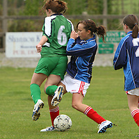Action from the U13 Girls Cup Final between Newmarket-on-Fergus & Connolly Celtic. - Photograph by Flann Howard