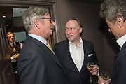 DOMINIC LAWSON; ANDREW ROBERTS, The inaugural Cliveden Literary Festival announcement. Cadogan Gardens. London. 15 May 2017