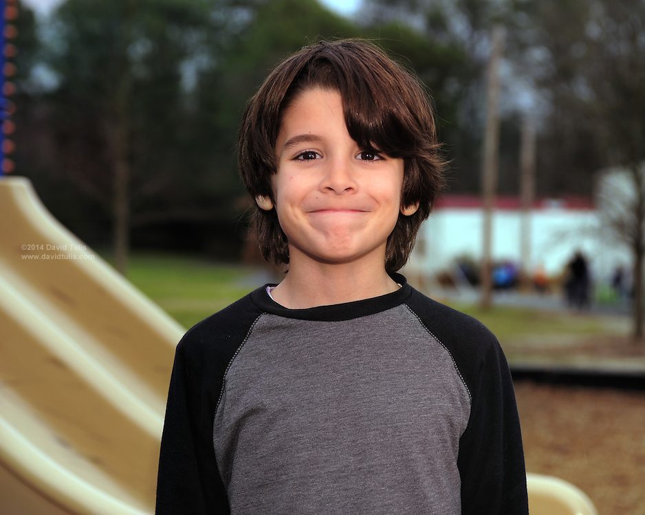 Third grader Armand Kardaslar in Ms. Jackson's class poses for a class photo on the Sagamore Hills Elementary School playground on Tuesday, Feb. 28, 2012.  (David Tulis/dtulis@gmail.com)
