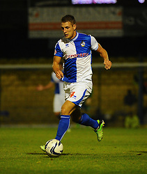 Bristol Rovers' Lee Brown in action - Photo mandatory by-line: Seb Daly/JMP - Tel: Mobile: 07966 386802 27/09/2013 - SPORT - FOOTBALL - Roots Hall - Southend - Southend United V Bristol Rovers - Sky Bet League Two
