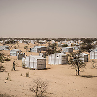 Dar Es Salam refugee camp, Lake region, Chad. <br /> <br /> Since Boko Haram attacks, in January 2015, in and around the northeastern Nigerian town of Baga, more than 18,000 Nigerian refugees have sought refuge in Chad, many of them in the small islands scattered in the Lake. The volatile security conditions in and around the islands scattered in Lake Chad and difficult access to these areas prompted the Government of Chad to allocate the site of Dar Es Salam, located some 12 km from Bagasola, for the accommodation of Nigerian refugees. Today according to UNHCR 4,960 Nigerian refugees are accommodated in Dar Es-Salam camp but due to the lack of food available some of them choose to return to Nigeria despite Boko Haram threats.<br /> <br /> Sylvain Cherkaoui/Cosmos for MSF