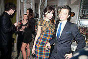 DAISY LOWE; DOMINIC COOPER, Donatella Versace celebrates the launch of the CSM 20:20 Fund, at the Connaught Hotel, Mayfair, London, 11th November, 2010. -DO NOT ARCHIVE-© Copyright Photograph by Dafydd Jones. 248 Clapham Rd. London SW9 0PZ. Tel 0207 820 0771. www.dafjones.com.
