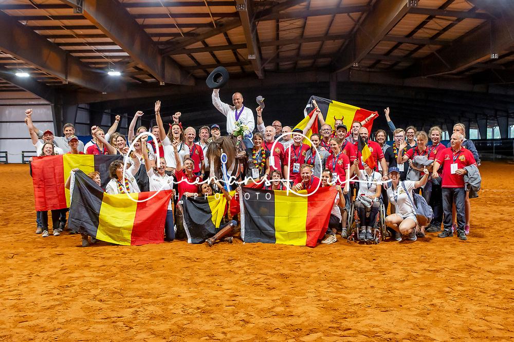 Fonck Bernard, BEL, What A Wave<br /> With all the Belgian team<br /> World Equestrian Games - Tryon 2018<br /> © Hippo Foto - Dirk Caremans<br /> 15/09/2018