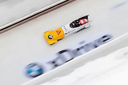 16.12.2017, Olympia Eisbahn, Igls, AUT, BMW IBSF Weltcup und EM, Igls, Zweierbob Herren, 1. Lauf, im Bild Clemens Bracher und Michael Kuonen (SUI) // Clemens Bracher and Michael Kuonen of Switzerland during 1st run of two-man Bobsleigh competition of BMW IBSF World Cup and European Championship at the Olympia Eisbahn in Igls, Austria on 2017/12/16. EXPA Pictures © 2017, PhotoCredit: EXPA/ Johann Groder