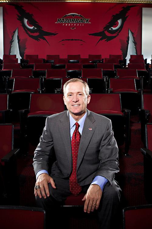 Athletic Director of the University of Arkansas, Jeff Long for Arkansas Life Magazine