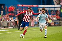 Atletico de Madrid's Fernando Torres and Celta de Vigo's Planas during La Liga Match at Vicente Calderon Stadium in Madrid. May 14, 2016. (ALTERPHOTOS/BorjaB.Hojas)
