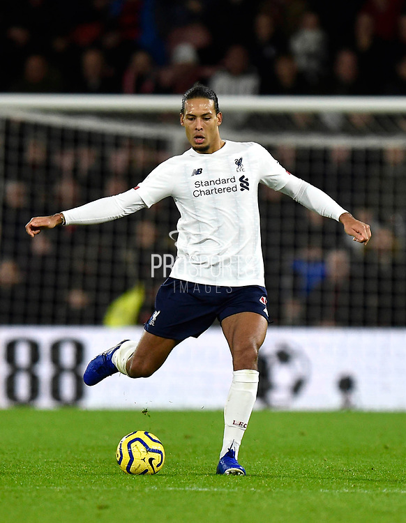 Virgil van Dijk (4) of Liverpool during the Premier League match between Bournemouth and Liverpool at the Vitality Stadium, Bournemouth, England on 7 December 2019.