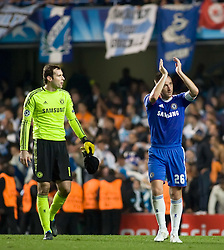 28.09.2010, Stamford Bridge, London, ENG, UEFA Champions League, Chelsea vs Olympique Marseille, im Bild Chelsea's John Terry & Chelsea's Czech Republic footballer Petr Cech celebrate chelsea's win in the Champions League28/09/2010. EXPA Pictures © 2010, PhotoCredit: EXPA/ IPS/ Mark Greenwood +++++ ATTENTION - OUT OF ENGLAND/UK +++++