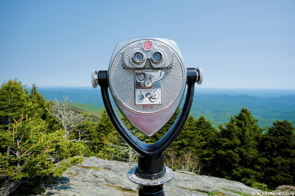 A tower viewer at the summit of Grandfather Mountain on the Blue RIdge Parkway of North Carolina.