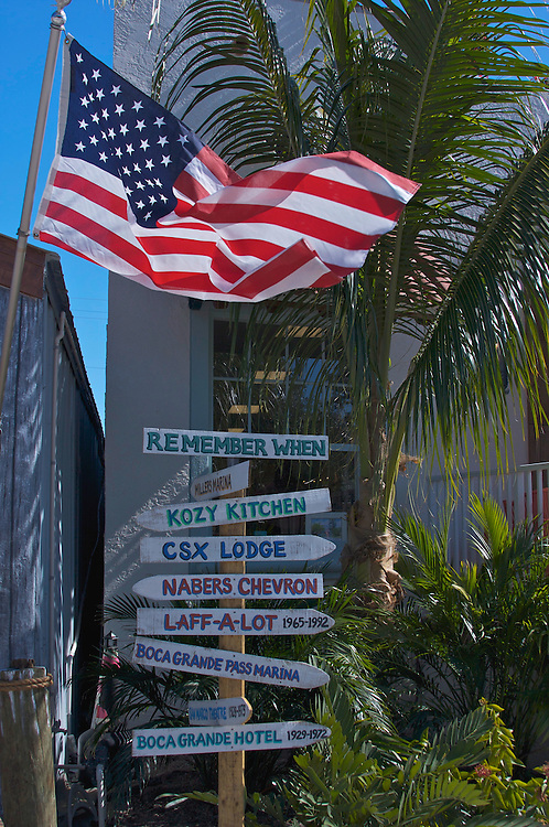 Street signs, Boca Grande, Florida